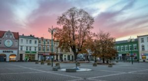 Widok centrum w Lublińcu